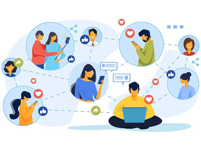 social media connection viruteller assistent marketing illustration grafik video foto rosenheim münchen